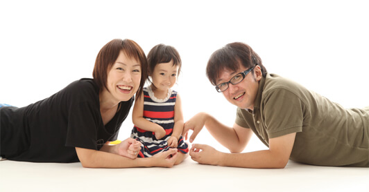 札幌市の子供写真家族写真